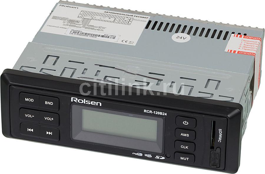 Автомагнитола ROLSEN RCR-120B24,  USB,  SD/MMC