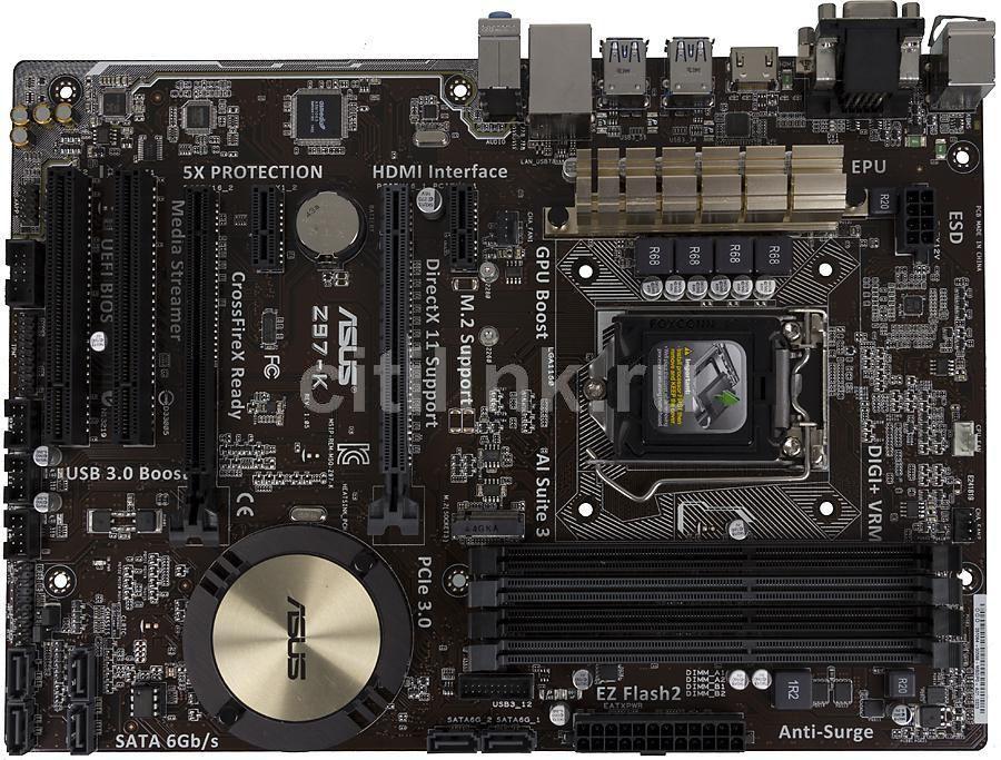 Материнская плата ASUS Z97-K LGA 1150, ATX, Ret