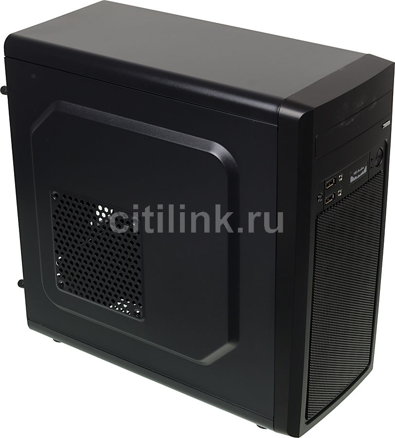 Корпус mATX ACCORD M-02B, Mini-Tower, без БП, черный корпус matx accord a 08b mini tower без бп черный