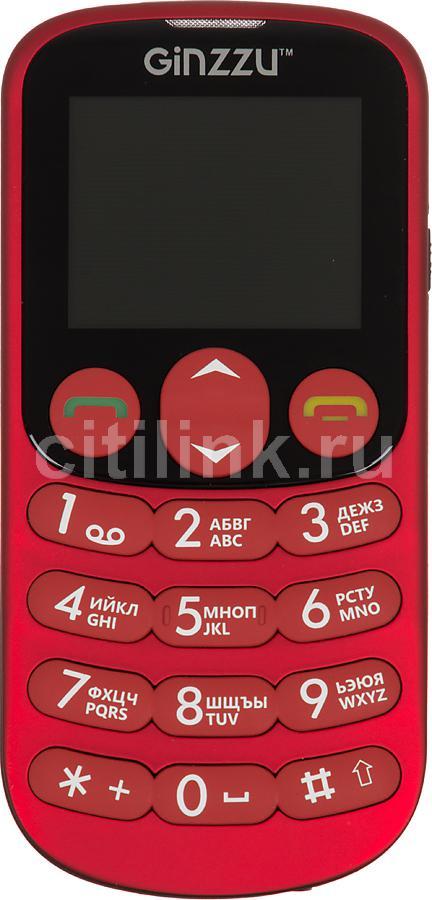 Мобильный телефон GINZZU R32 Dual Sim красный