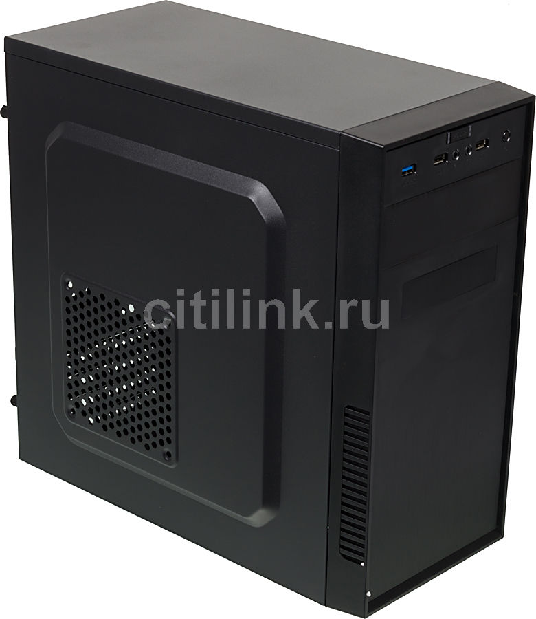 Корпус mATX ACCORD A-07B, Mini-Tower, без БП, черный корпус matx accord a 08b mini tower без бп черный