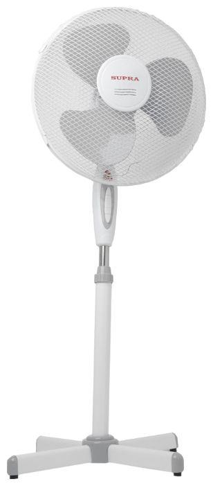 Вентилятор напольный SUPRA VS-1602,  белый и серый