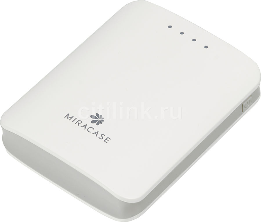 Внешний аккумулятор MIRACASE MACC-818,  10400мAч,  белый