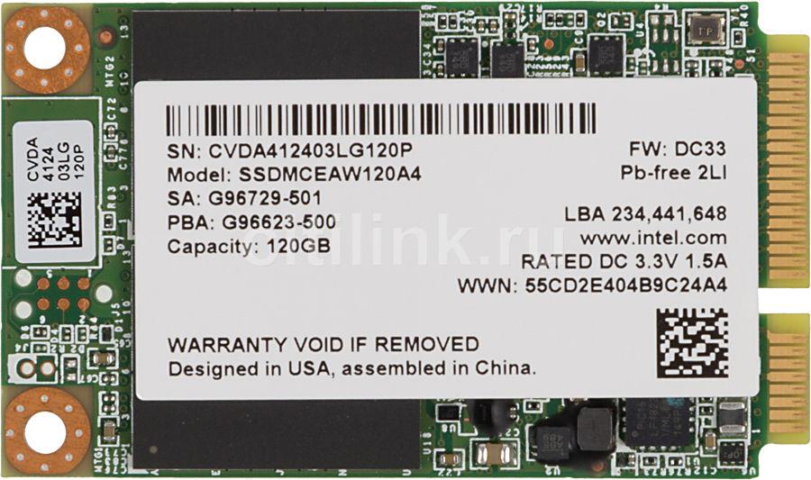 Накопитель SSD INTEL 530 Series SSDMCEAW120A401 929847 120Гб, mSATA, SATA III