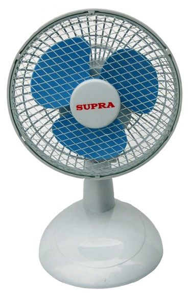 Вентилятор настольный SUPRA VS-605K,  белый и голубой