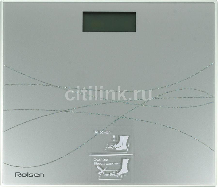Весы ROLSEN RSL1517, до 150кг, цвет: серебристый