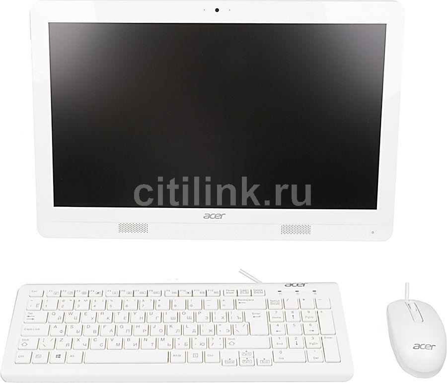 Моноблок ACER Aspire ZC-606, Intel Celeron J1900, 4Гб, 500Гб, DVD-RW, Windows 8.1, белый [dq.surer.006]