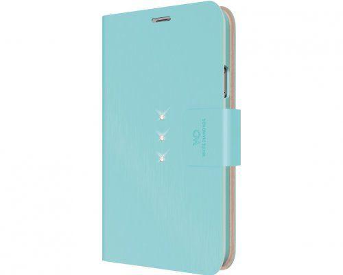 Чехол (флип-кейс) WHITE DIAMONDS Crystal Wallet, 2412TRI53, для Samsung Galaxy S5, бирюзовый