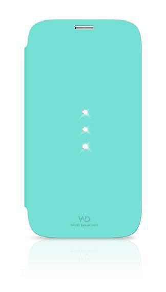Чехол (флип-кейс) WHITE DIAMONDS Crystal Booklet, 2411TRI53, для Samsung Galaxy S5, бирюзовый