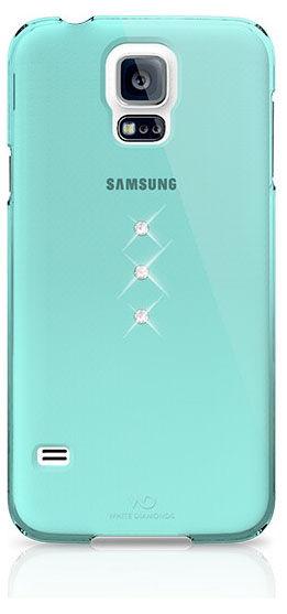 Чехол (клип-кейс) WHITE DIAMONDS Trinity, для Samsung Galaxy S5, бирюзовый [2410tri53]