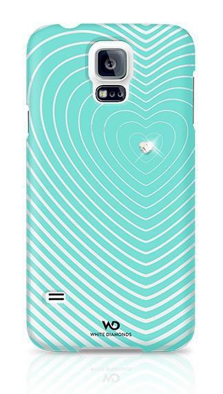 Чехол (клип-кейс) WHITE DIAMONDS Heartbeat, для Samsung Galaxy S5, бирюзовый [2410hbt53]