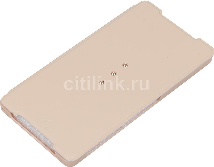 Чехол (флип-кейс) WHITE DIAMONDS Crystal Booklet, для Sony Xperia Z2, золотистый [3221tri56]