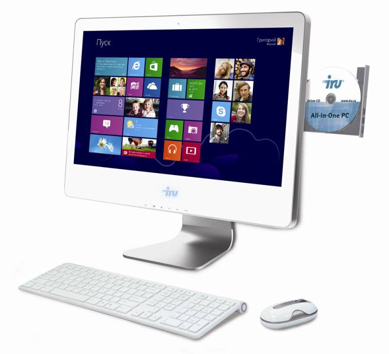 Моноблок IRU 321, Intel Core i3 4130, 4Гб, 1Тб, nVIDIA GeForce GT740 - 1024 Мб, DVD-RW, noOS, белый [918290]