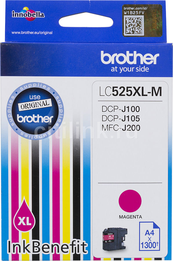 Картридж BROTHER LC525XLM пурпурный