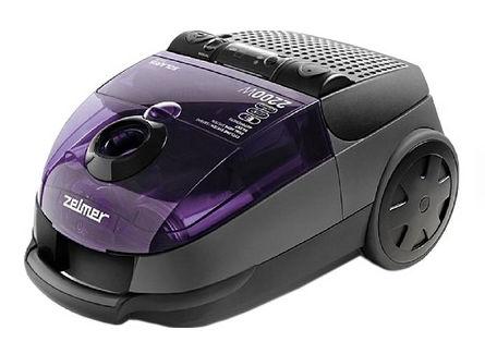 Пылесос ZELMER ZVC552KTRU, 2200Вт, черный/фиолетовый