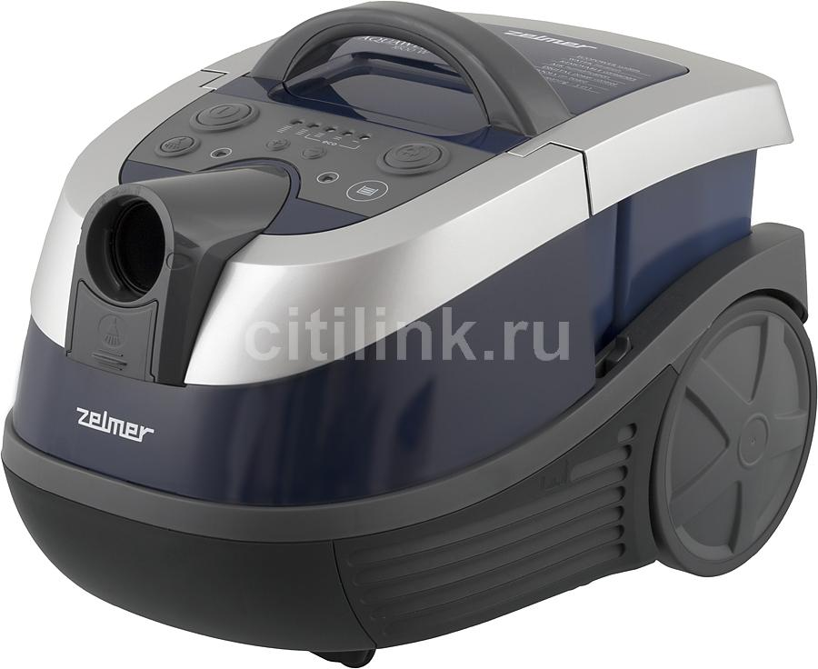 Моющий пылесос ZELMER ZVC752SPRU, 1600Вт, синий/серый