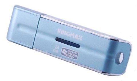 Флешка USB KINGMAX U-Drive 8Гб, USB2.0, голубой и серебристый