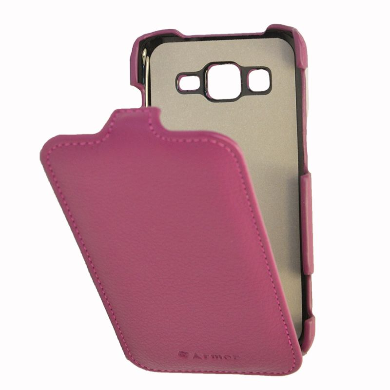Чехол (флип-кейс) ARMOR-X flip full, для Samsung Galaxy Core Advance, пурпурный