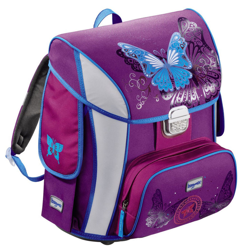 Ранец Step By Step BaggyMax Simy Butterfly фиолетовый/рисунок бабочки [00129296]