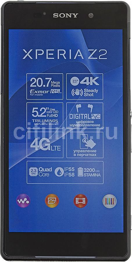 Смартфон SONY Xperia Z2 D6503  черный