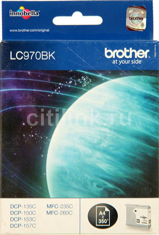 Картридж BROTHER LC970BK черный