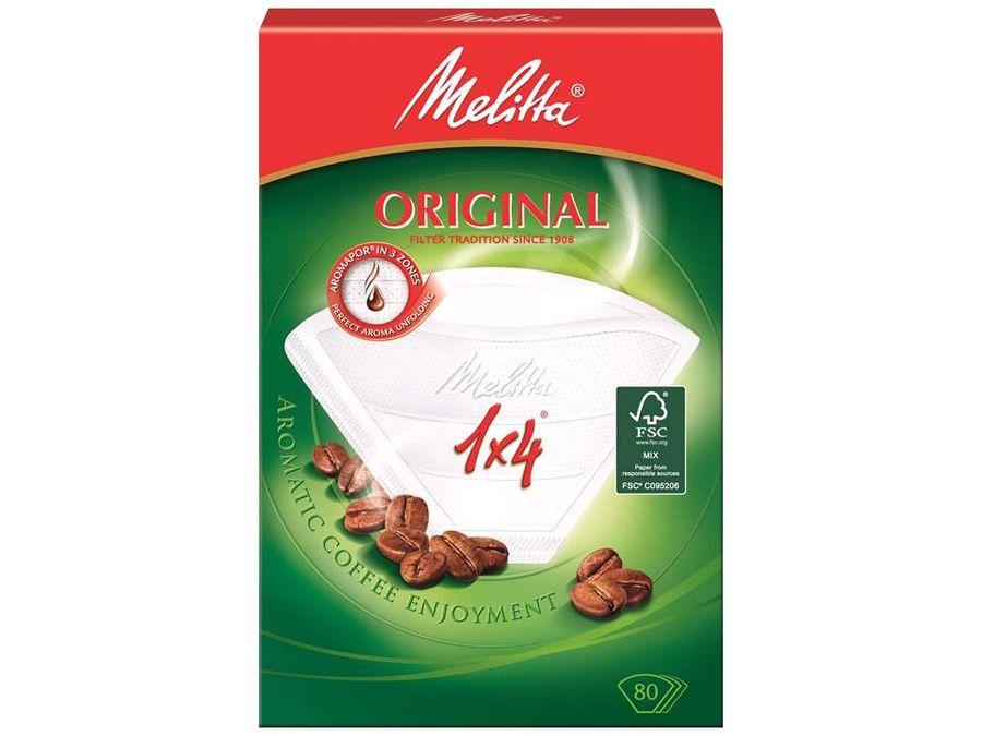 Фильтры для кофе MELITTA для кофеварок капельного типа,  бумажные,  1х4,  80 шт,  белый