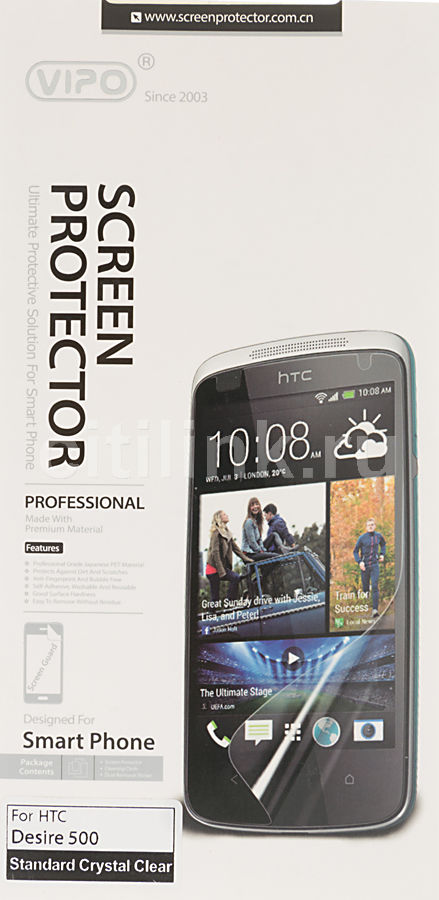 Защитная пленка VIPO для HTC Desire 500,  прозрачная, 1 шт