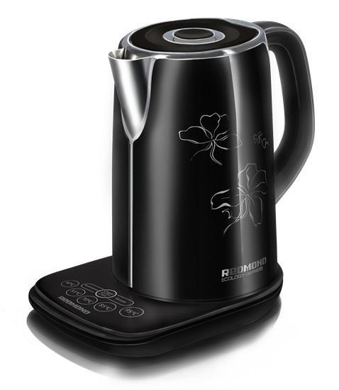 Чайник электрический REDMOND RK-M130D, 2400Вт, черный