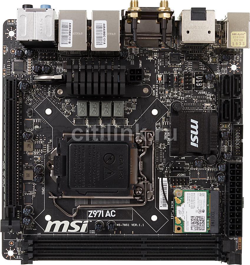 Материнская плата MSI Z97I AC LGA 1150, mini-ITX, Ret