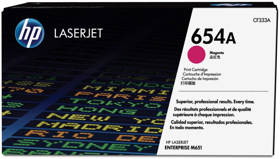 Картридж HP 654A CF333A,  пурпурный