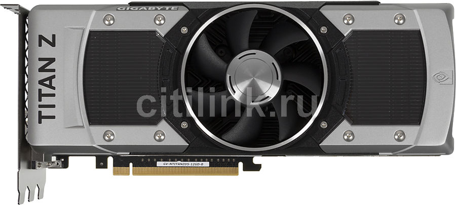 Видеокарта GIGABYTE nVidia  GeForce GTX TITAN Z ,  GV-NTITANZD5-12GD-B,  12Гб, GDDR5, Ret