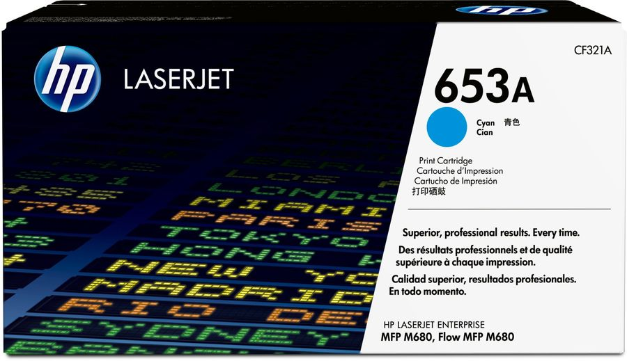 Картридж HP 653A голубой [cf321a]