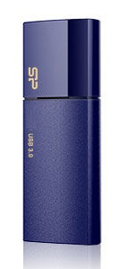 Флешка USB SILICON POWER Blaze B10 8Гб, USB3.0, синий [sp008gbuf3b05v1d]