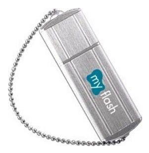 Флешка USB A-DATA Nobility PD4 8Гб, USB2.0, серебристый