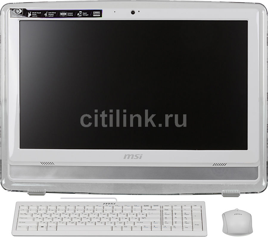 Моноблок MSI AE201-040, Intel Pentium Dual-Core G3240, 4Гб, 500Гб, Intel HD Graphics, DVD-RW, Free DOS, белый [9s6-aa8212-040]
