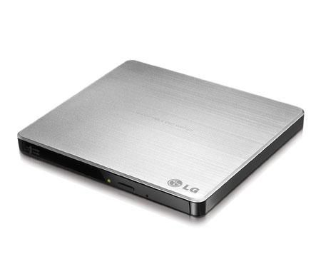 Оптический привод DVD-RW LG GP60NS50, внешний, USB, серебристый,  Ret