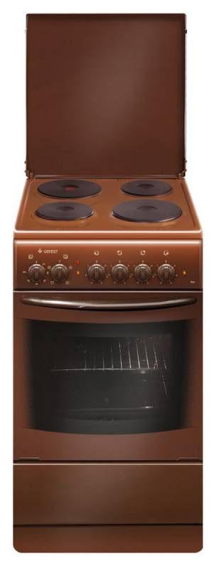 Электрическая плита ГЕФЕСТ 2140 К79,  эмаль,  коричневый [эпнд 2140-00 к 79]