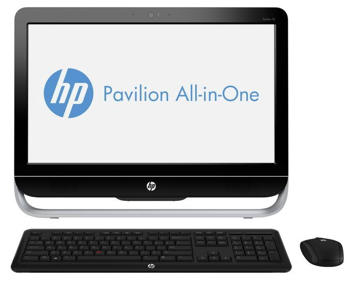Моноблок HP Pavilion 23-g101nr, Intel Pentium G3240T, 4Гб, 500Гб, Intel HD Graphics, DVD-RW, Windows 8.1, черный и серебристый [j2g34ea]