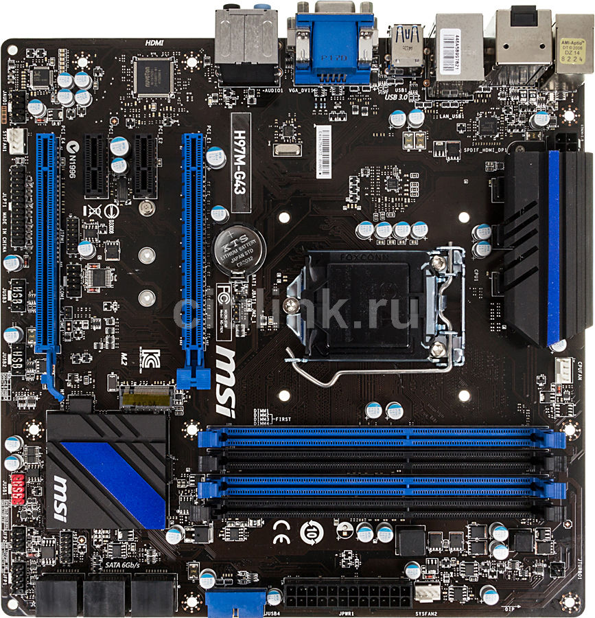 Материнская плата MSI H97M-G43 LGA 1150, mATX, Ret