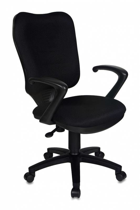 Кресло БЮРОКРАТ CH-540AXSN, на колесиках, ткань, черный [ch-540axsn/tw-11]
