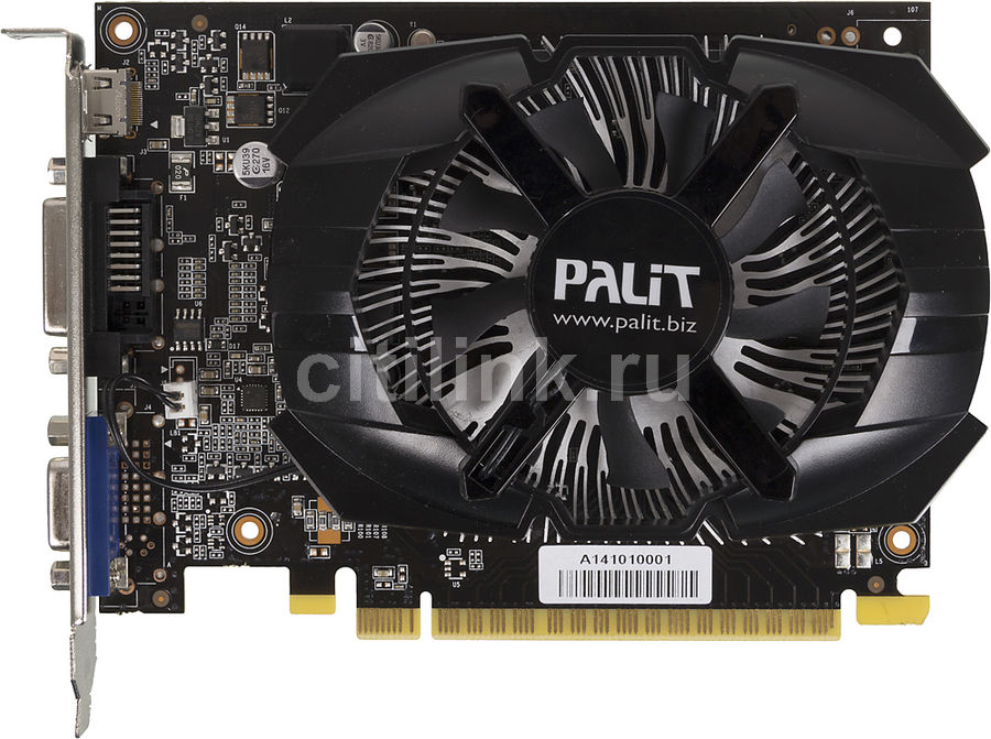 Видеокарта PALIT GeForce GT 740,  PA-GT740-1GD5,  1Гб, GDDR5, Ret [ne5t740s1301-1073f]