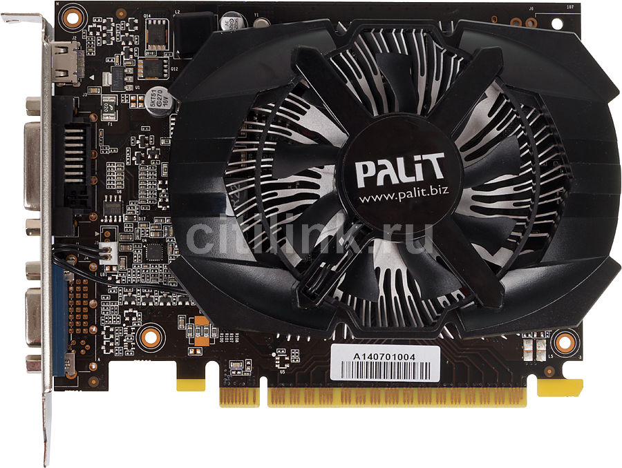 Видеокарта PALIT GeForce GT 740,  PA-GT740-OC-2GD5,  2Гб, GDDR5, bulk [ne5t740s1341-1073f bulk]