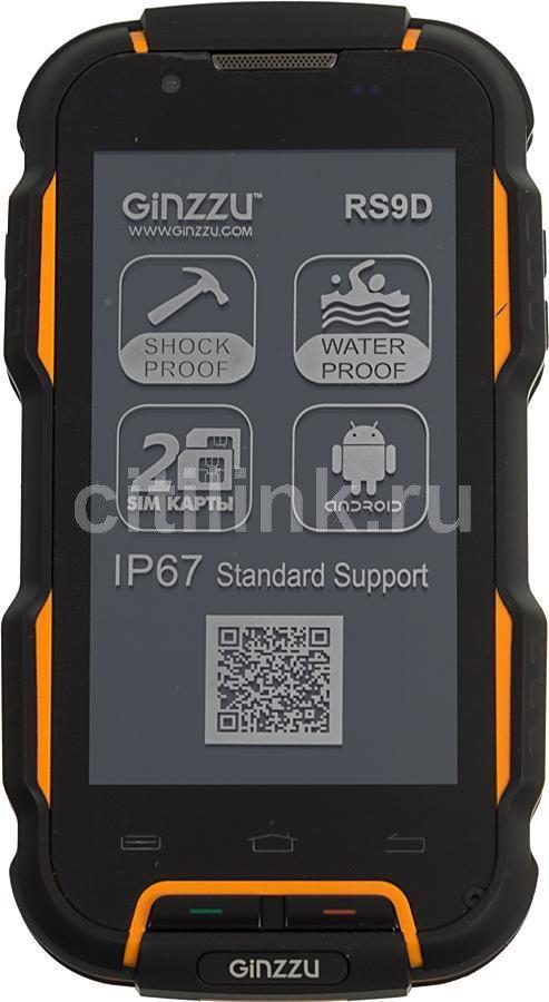 Смартфон GINZZU RS9 Dual Sim черный/оранжевый