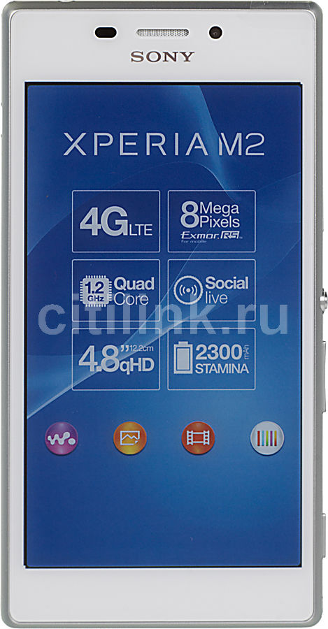 Смартфон SONY Xperia M2 D2303  белый