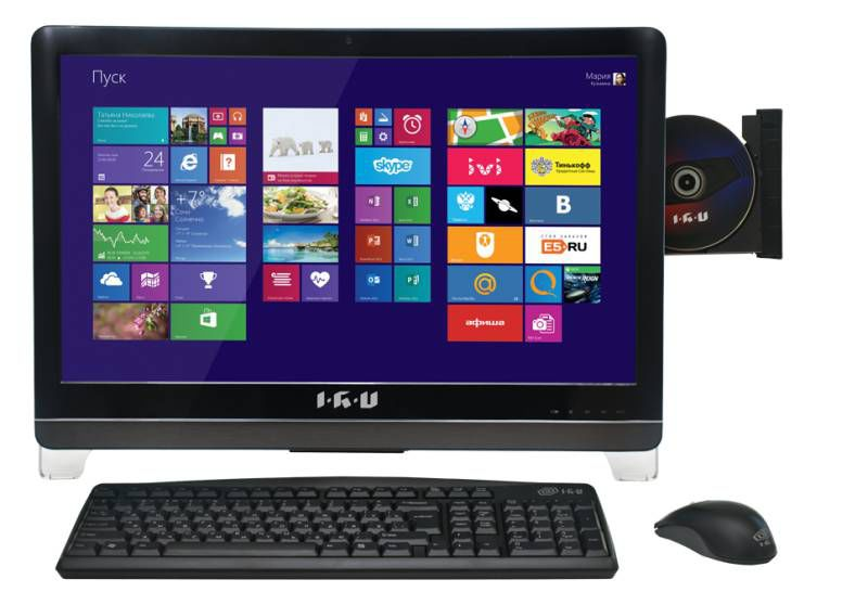 Моноблок IRU 311, Intel Core i5 3330, 4Гб, 1000Гб, AMD HD Graphics 2500, DVD-RW, Free DOS, черный