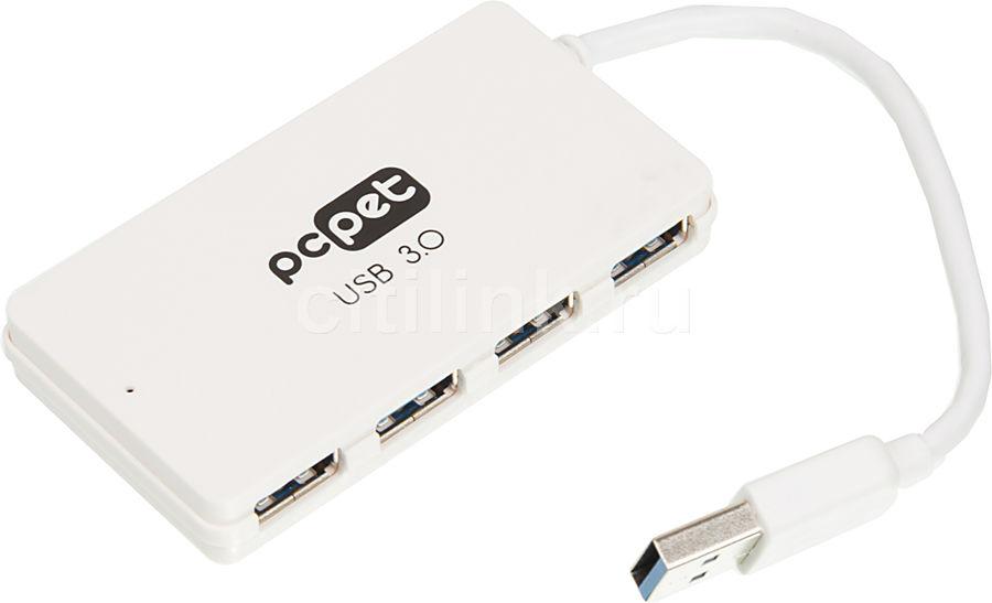Хаб (разветвитель) PC PET BW-U3031A, белый [bw-u3031a white]