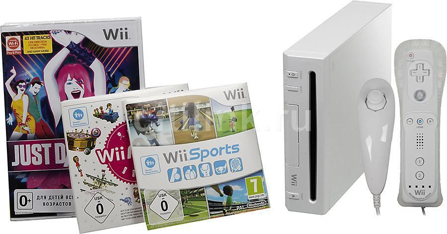 Игровая консоль NINTENDO Wii 2101590, белый