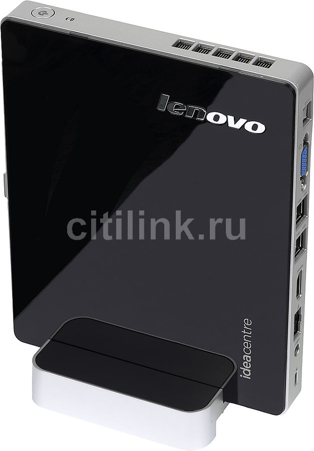 Неттоп  LENOVO IdeaCentre Q190,  Intel  Celeron  1017U,  DDR3 2Гб, 500Гб,  Intel HD Graphics,  без ODD,  CR,  Windows 8.1,  черный и серебристый [57328436]