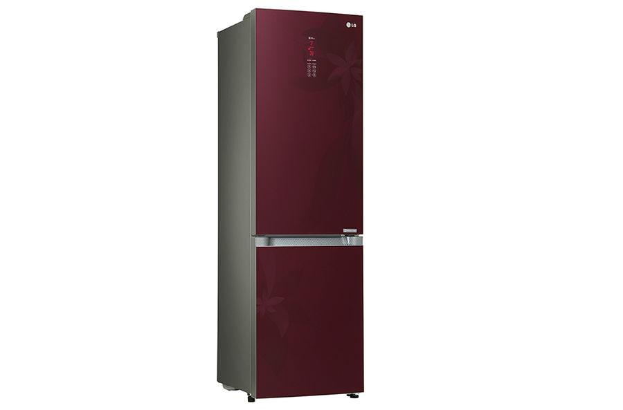 Холодильник LG GA-B489TGRF,  двухкамерный,  красный