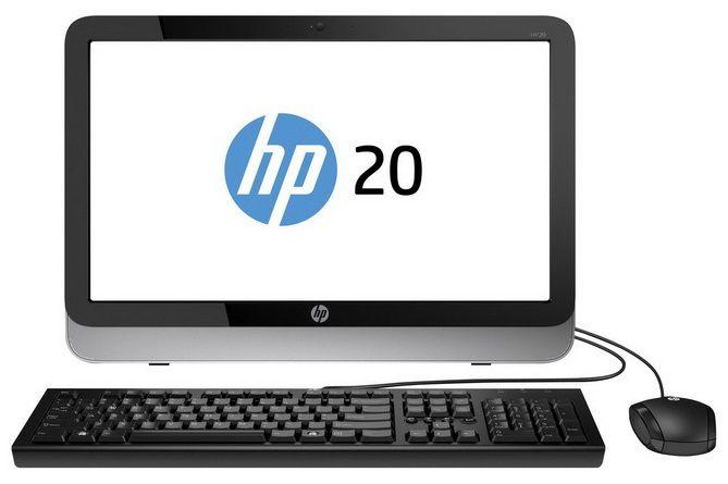 Моноблок HP Pavilion 20-2100nr, AMD E1, 4Гб, 500Гб, AMD Radeon HD 8420, DVD-RW, Windows 8.1 [j2g28ea]